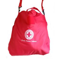 Sacca Zaino Rossa Portacasco Porta Casco Porta Laptop Bag con Logo C.R.I. croce Rossa Italiana CRI (3)